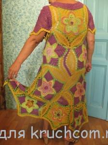 вяжем платье из элементов