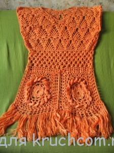 вязаное платье для пляжа