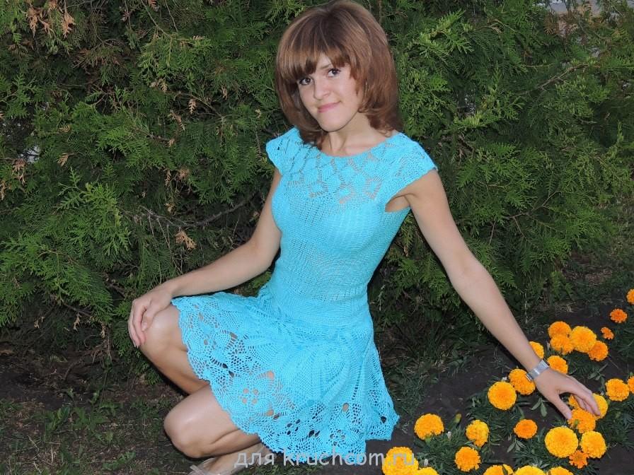 Платья и сарафаны для взрослых вязаные крючком