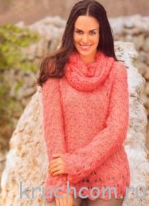 вязаный пуловер крючком