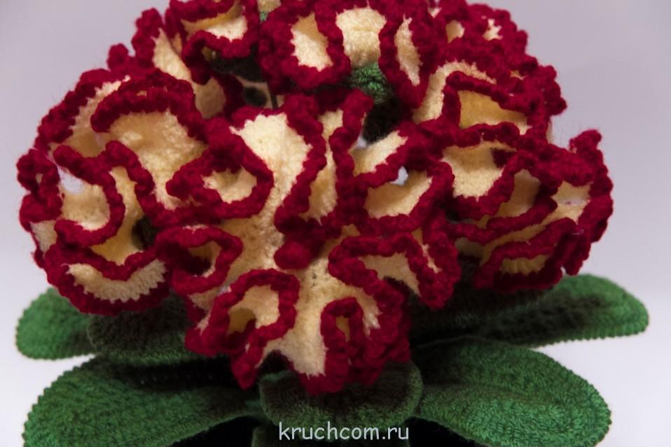 Цветы из акриловой пряжи «