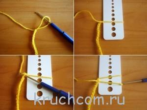 вяжем шарфик крючком