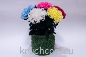 цветы крючком с описанием