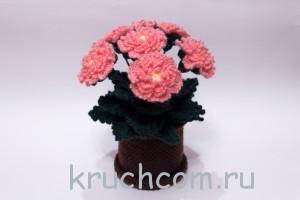 красивые вязаные цветы крючком