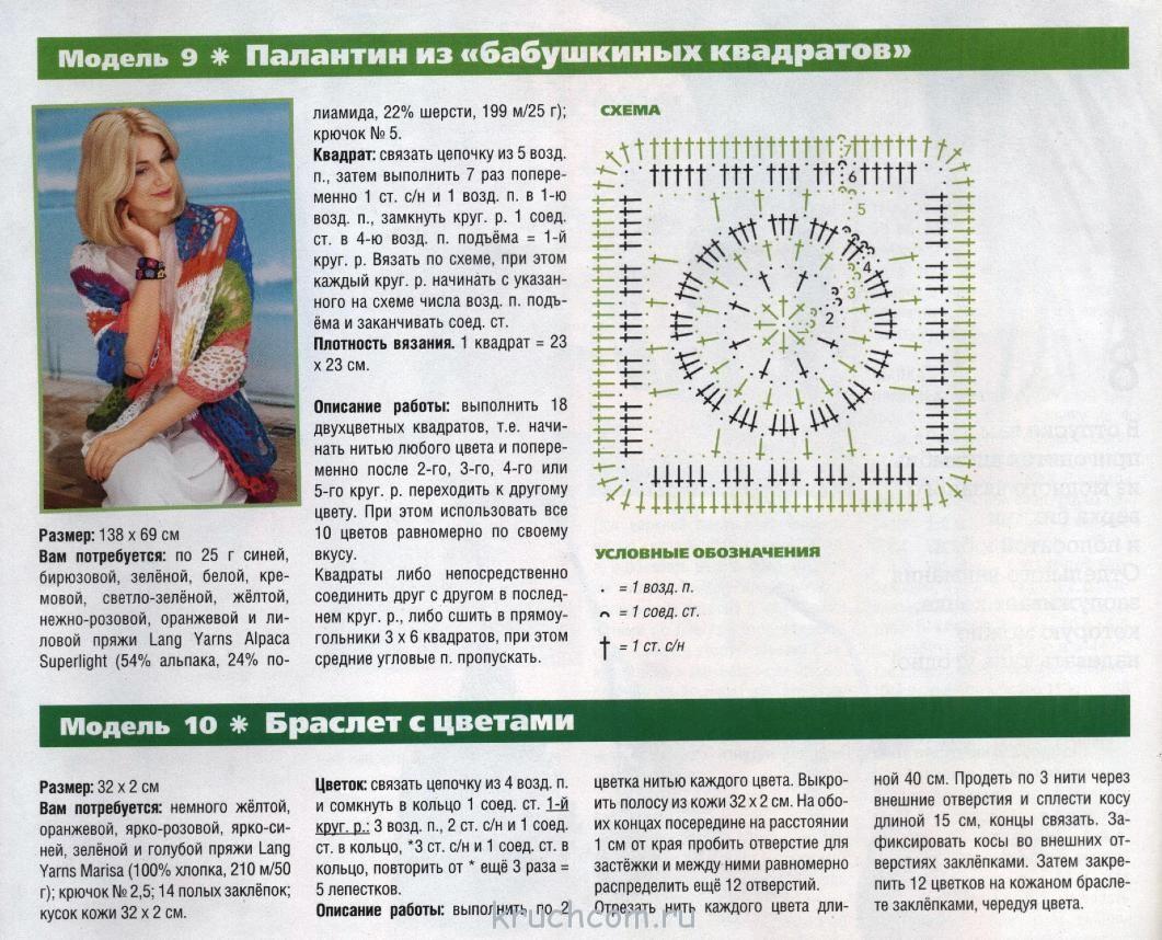 Описание вязания крючком бабушкин квадрат 56