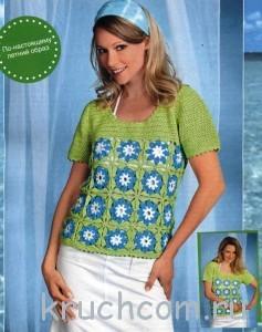 пуловер из бабушкиных квадратов
