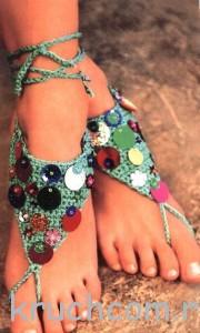 украшения для ног крючком