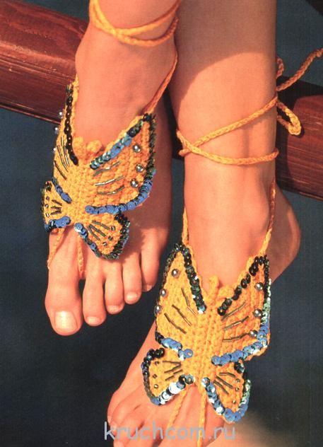 украшение для ног крючком