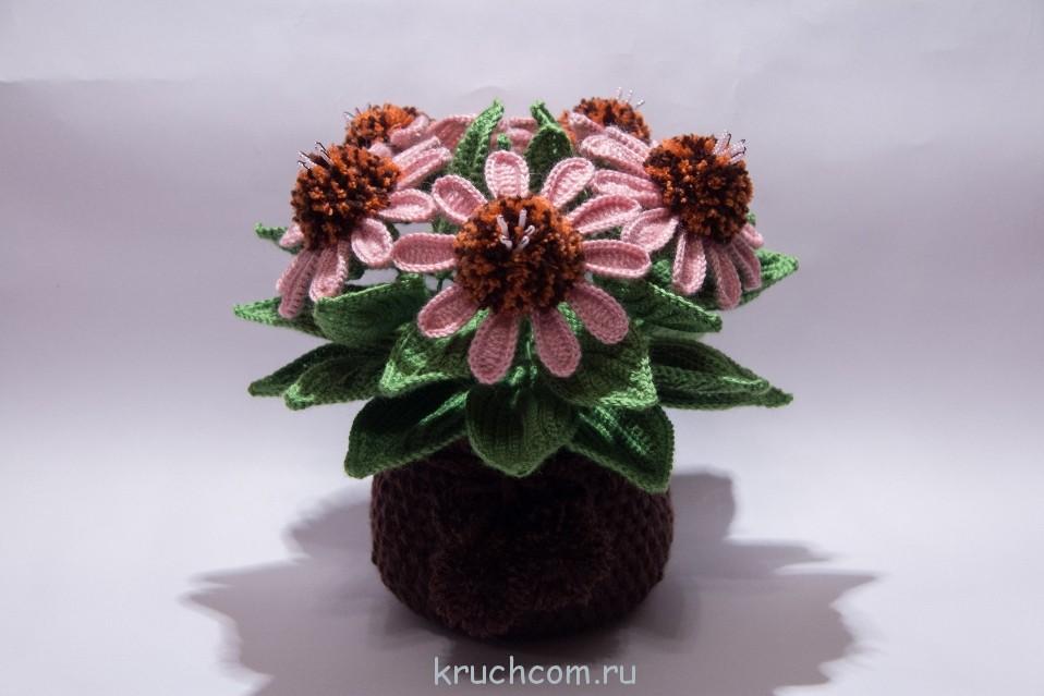 вязаные цветы крючком 2