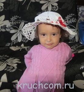 вязаная шляпка для девочки крючком