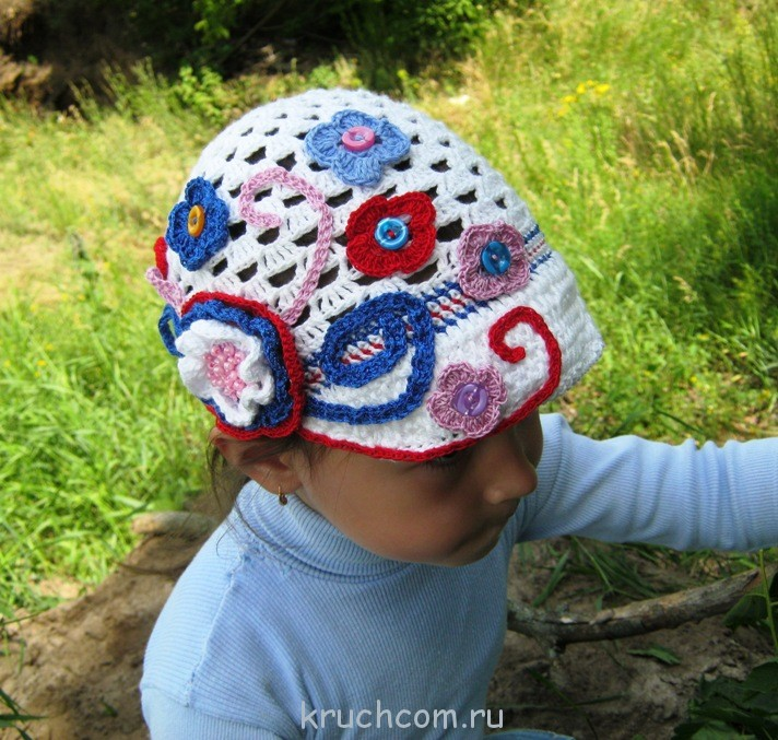 вязаная кепка для девочки