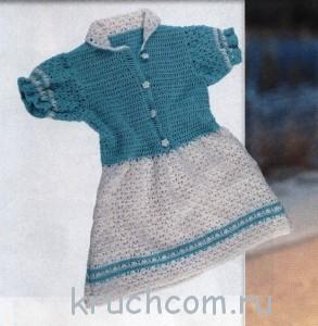 платье для девочки крючком на лето