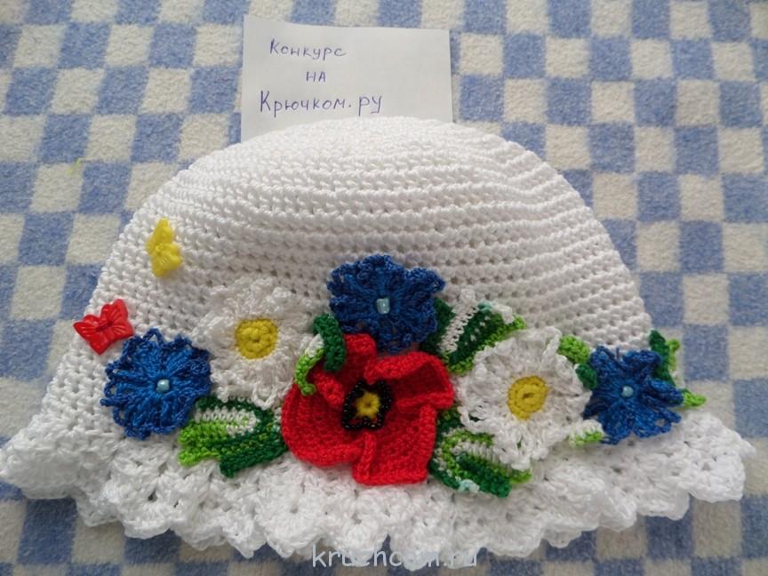 Вязание цветов крючком для панамки крючком
