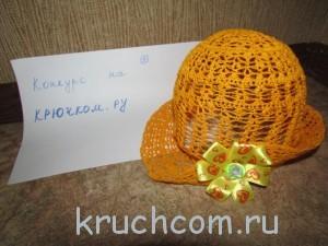 шляпка панамка крючком