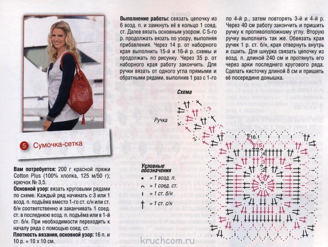 Вязание крючком модели сумочек 44