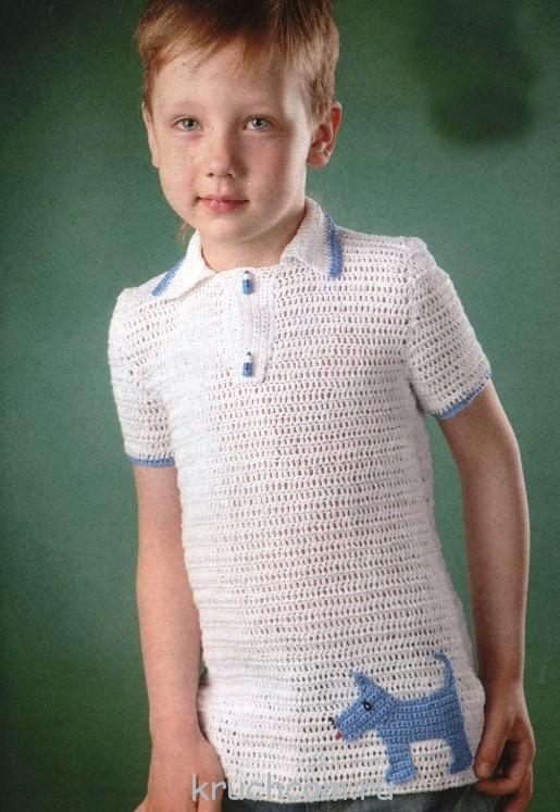 Легкая рубашечка на мальчика с