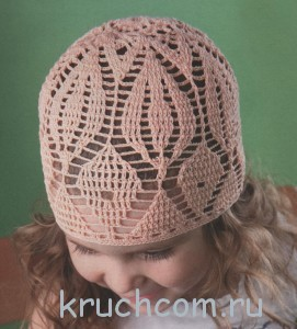 вязаная шапочка для девочки крючком