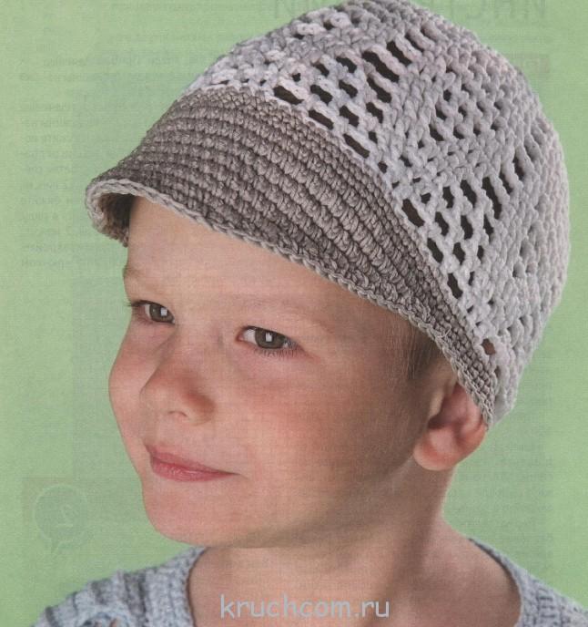 Ажурная кепка для мальчика