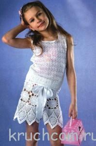 вязаные шорты для девочки