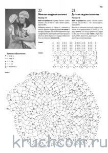 схема вязания и описание берета крючком