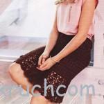 Вязаная юбка шоколадного цвета