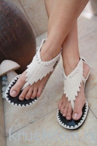 сандалии крючком