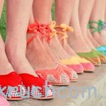 Вязаная обувь (мокасины и балетки)