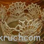 Вязаная корона для девочки