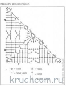 схема треугольного мотива крючком