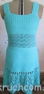 вяжем платье крючком на лето