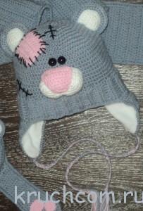 шапка мишка тэдди