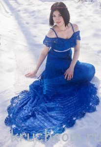 платье со шлейфом крючком