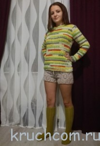 свитер и шорты крючком