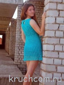 платье на лето крючком