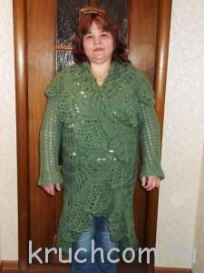ажурный жакет-пальто крючком