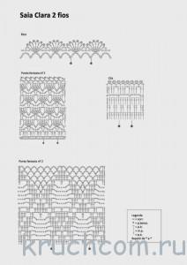 схемы для вязания юбки