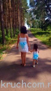сарафан для мамы и дочки