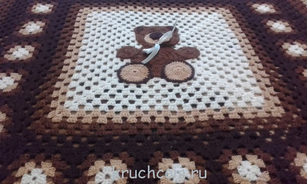 Вязание бабушкиных квадратов крючком схемы и описание