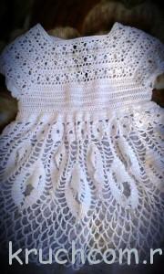 крестильный комплект платье и чепчик