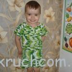 Вязаная футболка и шортики для мальчика