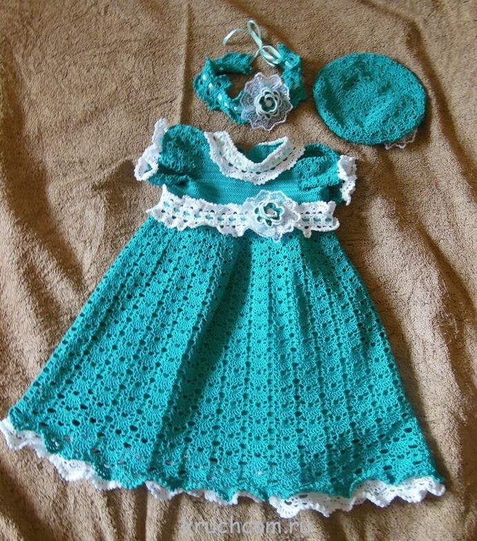 вязание ажурных платьев для девочек