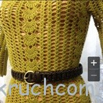 Вязаное платье на лето из пряжи «Азалия»