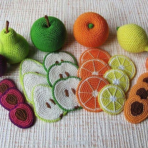 Вязание крючком фрукты амигуруми