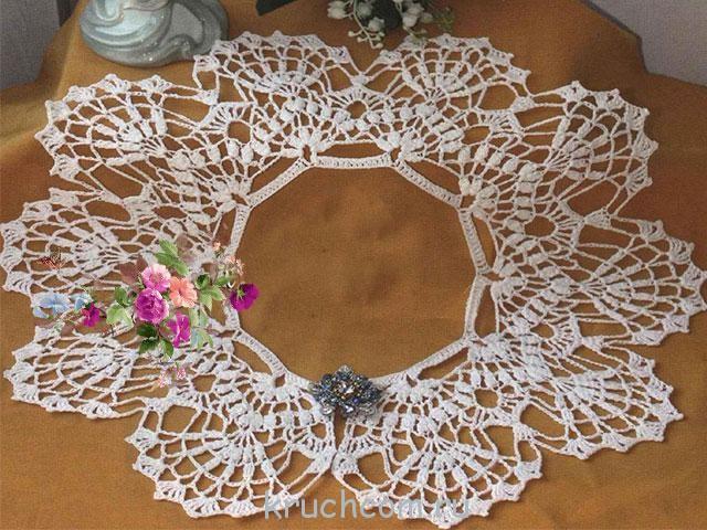 Вязаные кружевные воротники крючком схемы - Мой секрет 89