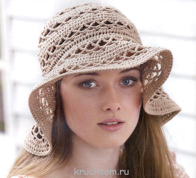Вязание крючком летних шляпок схемы и модели Летние шляпки