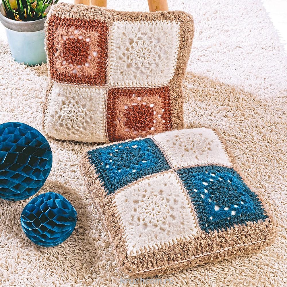 Коврик и чехол для подушки с ажурной каймой