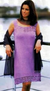 вязание платье крючком