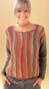 пуловер связан крючком