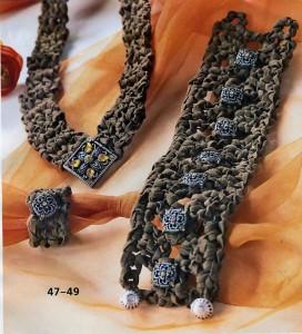 вязание браслет