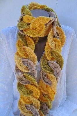 вязание шарфов с интересным сочетанием цветов вязание крючком